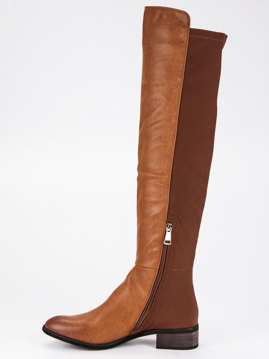 buty kozaki damskie brązowe wysoki nad kolano