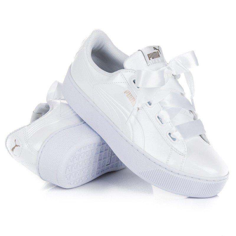 Puma Vikky Platform Sneakersy Niskie Bia?y