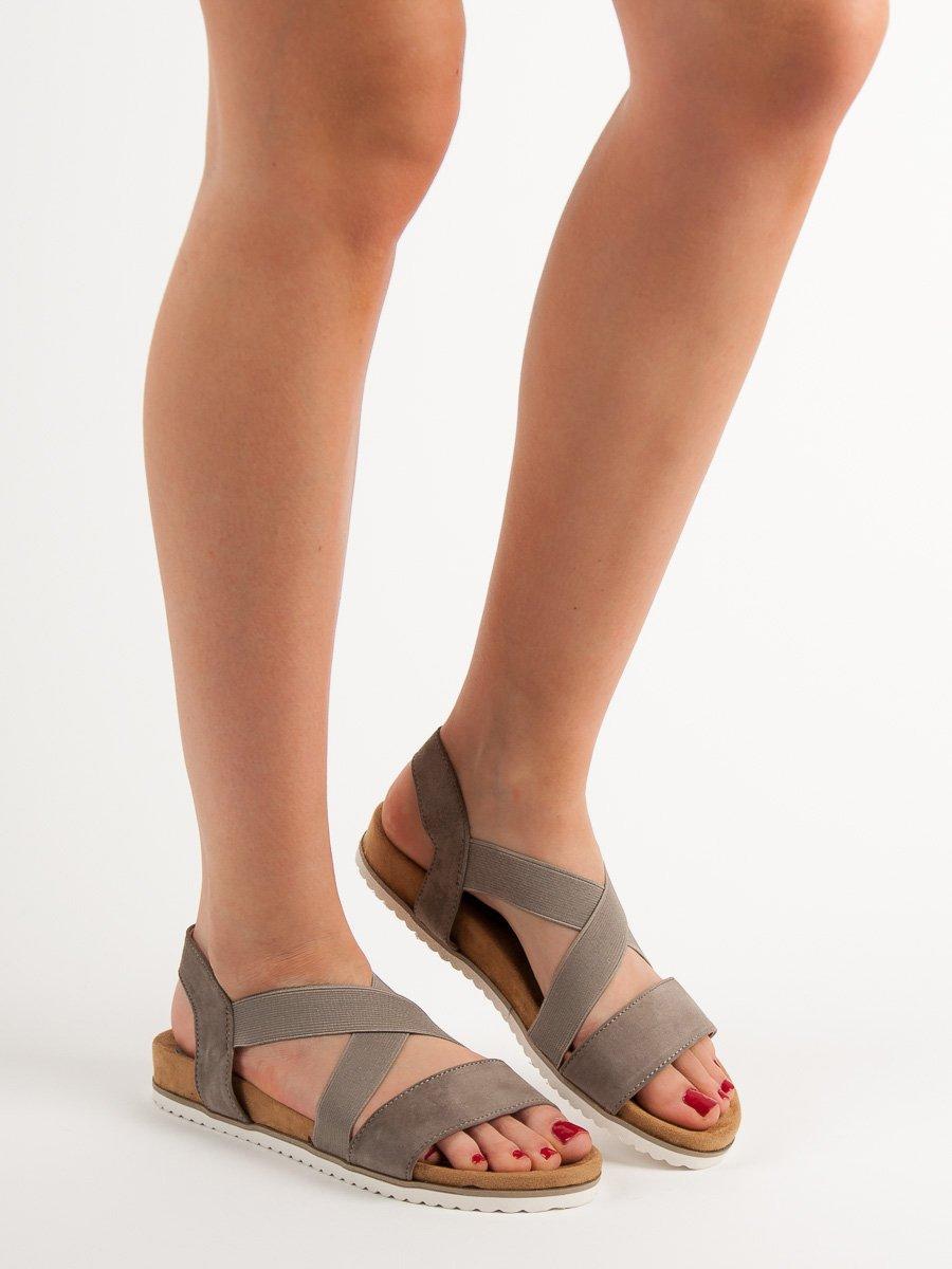 sandały damskie wsuwane z gumką